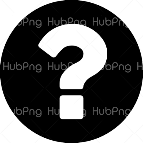 White And Black Question Mark Png Transparent Background Image For