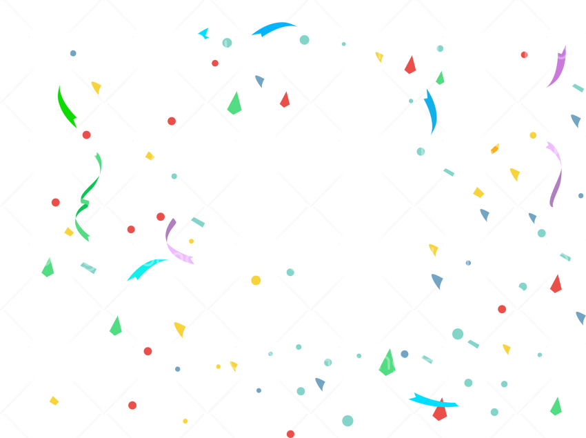 white confetti png Transparent Background Image for Free