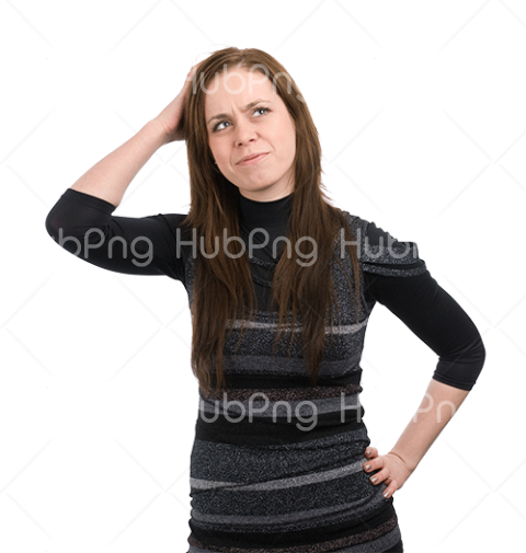 woman png headace worry Transparent Background Image for Free