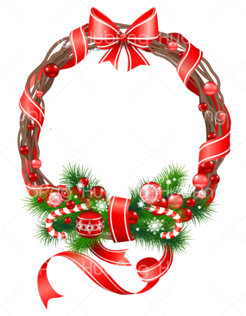 wreath for christmas clipart Transparent Background Image for Free
