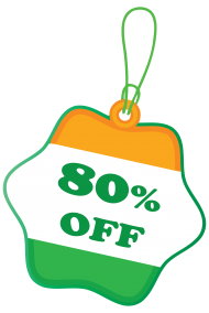 80% off sale india republic day png