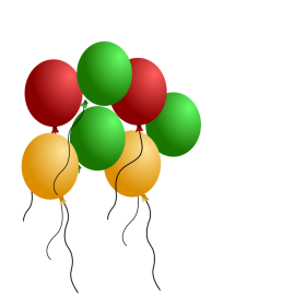 balon png green red yellow balloon