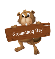 beaver groundhog day png vector