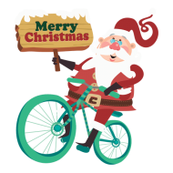 bicycle christmas santa claus png