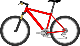 bike png bicicleta orange bicyclette