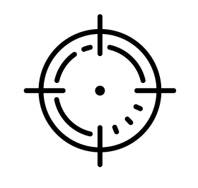 black target spot logo, Reticle Computer Icons, crosshair png hd