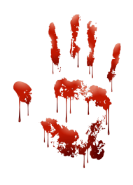 blood png hand