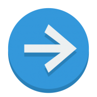 blue right arrow png Image