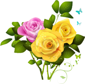 Bouquet flowers PNG transparent