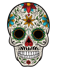 calavera png color tatto vector