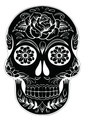 calavera png vector black
