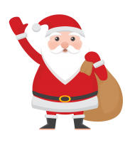 cartoon christmas santa hat png clipart