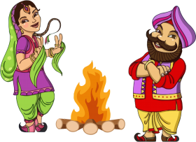 cartoon Lohri png fire clipart