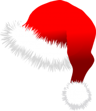 cartoon santa hat png