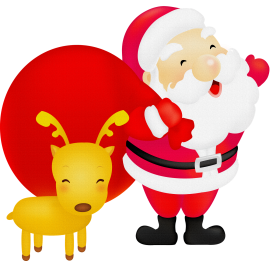 christmas cartoon santa recreation deer png for