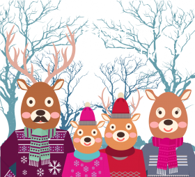 christmas clipart deer vector png