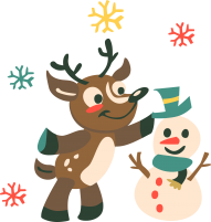 christmas png cartoon deer reindeer clipart