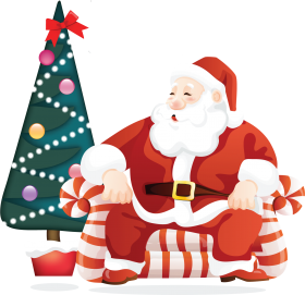christmas tree santa claus png clipart