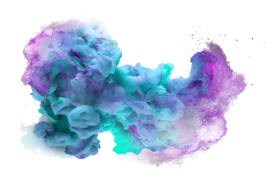 color cloud explosion png
