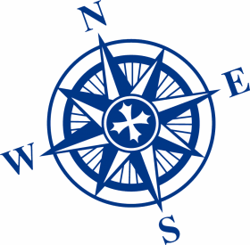 compass png blue drawing