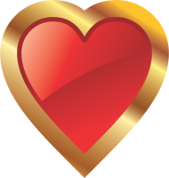 corazon png gold