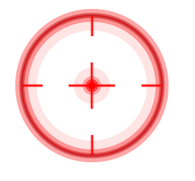 Crosshair png Circle Fadenkreuz Red Punto de mira red color