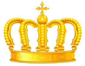 Crown PNG golden king