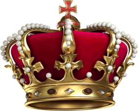 crown png red and gold
