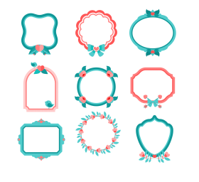 cuadros png vector frame
