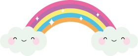 cute rainbow png