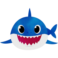 daddy shark png hd blue
