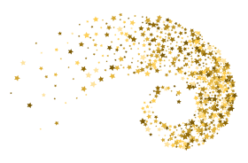 decoration png gold stars