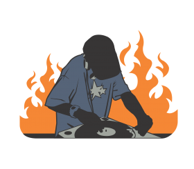 dj png vector effect