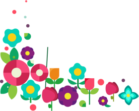 flores png hd color frame