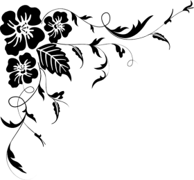 flores png vector black