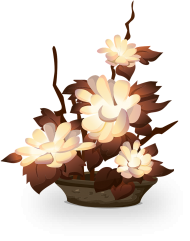 flowers in vase png Transparent Image
