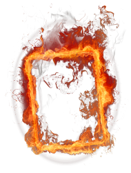 frame fuego png