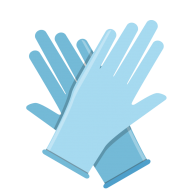 gloves blue coronavirus png
