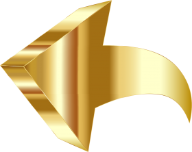 gold arrow png hd
