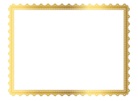 gold border design png