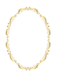 gold frame png hd round circl