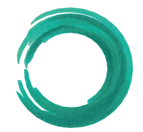 green brush stroke png circle