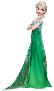 green dress frozen png