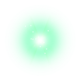 green lens Flare effect png