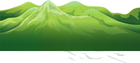green mountain png clipart