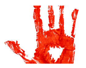 hand blood png