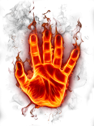 hand fire fuego png