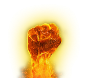 hand flame fuego png fire clipart