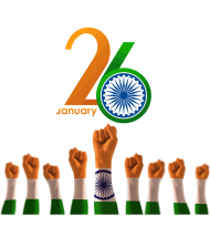 hand happy india republic day png