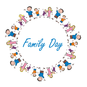 happy family day png cartoon